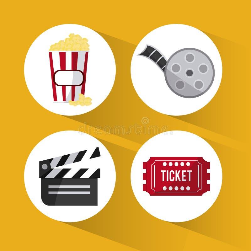 Дизайн кино и кино бесплатная иллюстрация