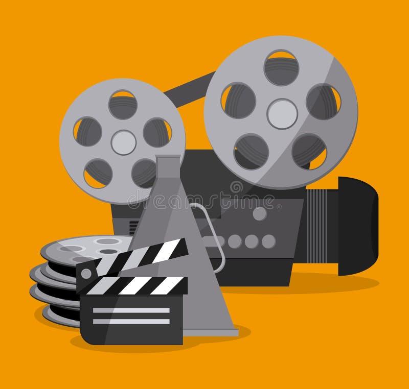 Дизайн кино и кино иллюстрация штока
