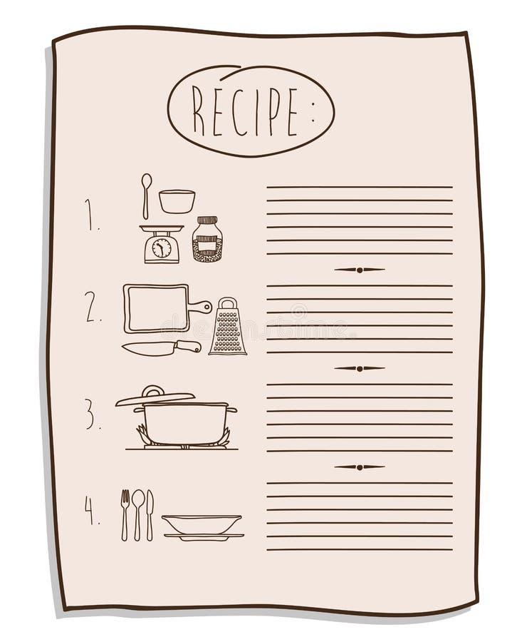 Дизайн книги кашевара бесплатная иллюстрация