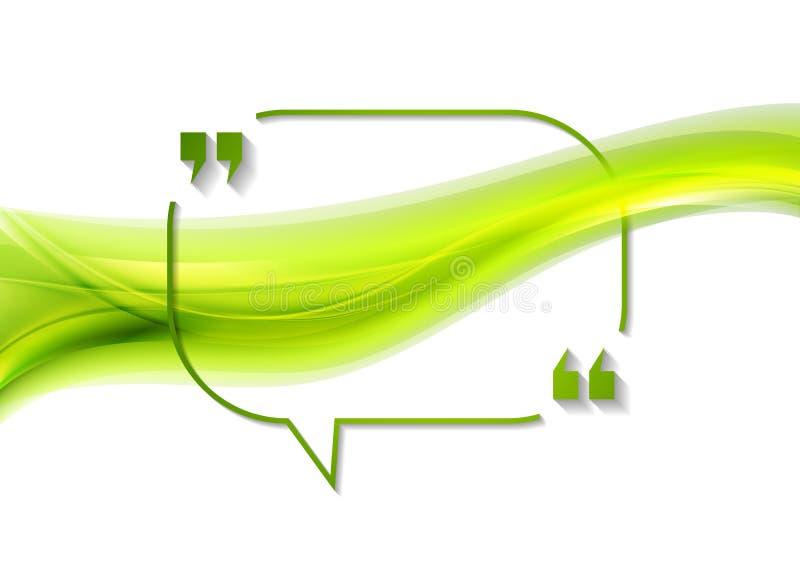 Дизайн конспекта пузыря речи цитаты волнистый иллюстрация вектора