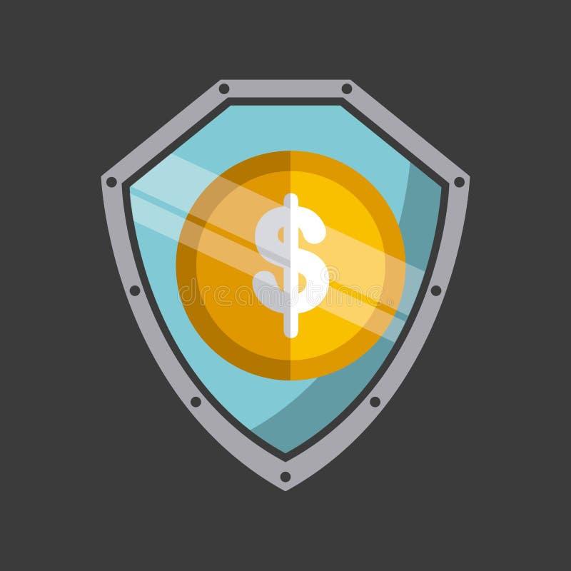 Дизайн концепции денег иллюстрация штока