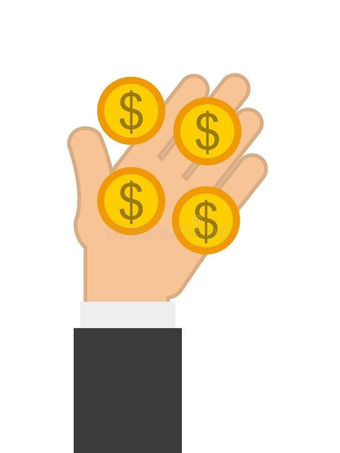 Дизайн концепции денег иллюстрация вектора