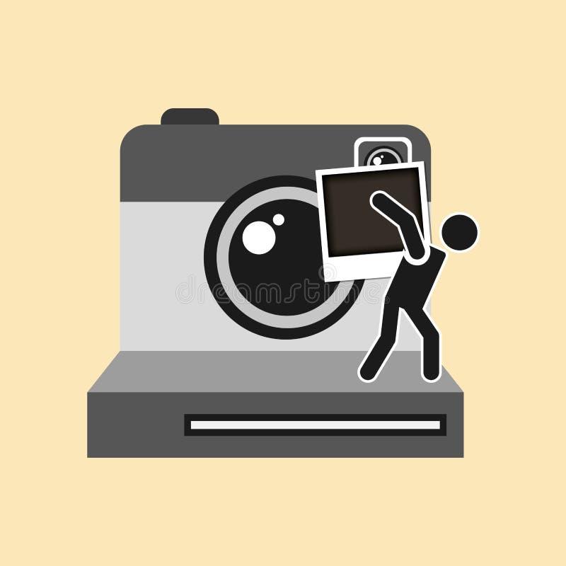 Дизайн концепции фотографии бесплатная иллюстрация