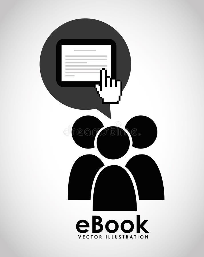 Дизайн концепции EBook иллюстрация вектора