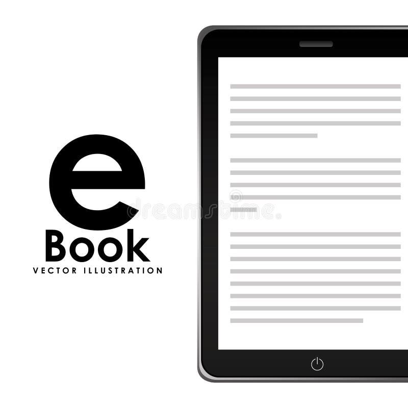 Дизайн концепции EBook иллюстрация штока