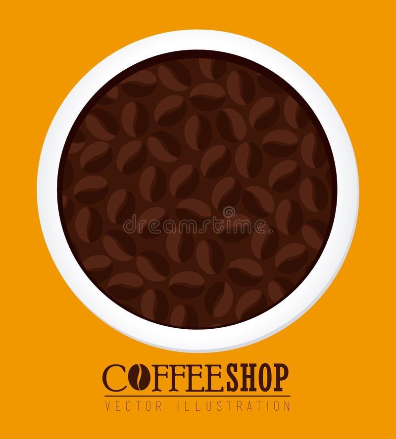 Дизайн кофе иллюстрация штока