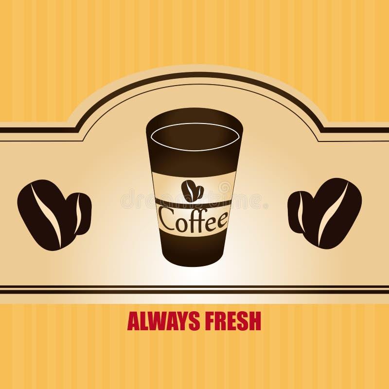 Дизайн кофе иллюстрация вектора