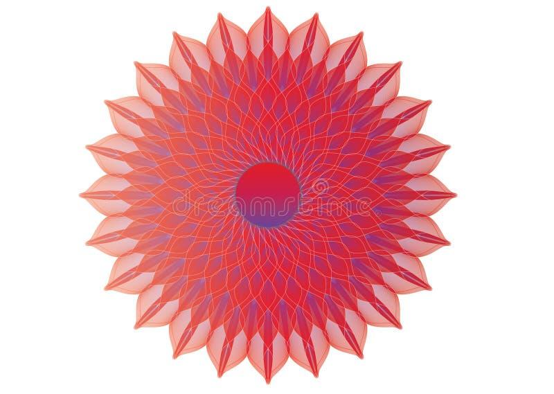 Дизайн красного цвета затейливо сделанный по образцу бесплатная иллюстрация