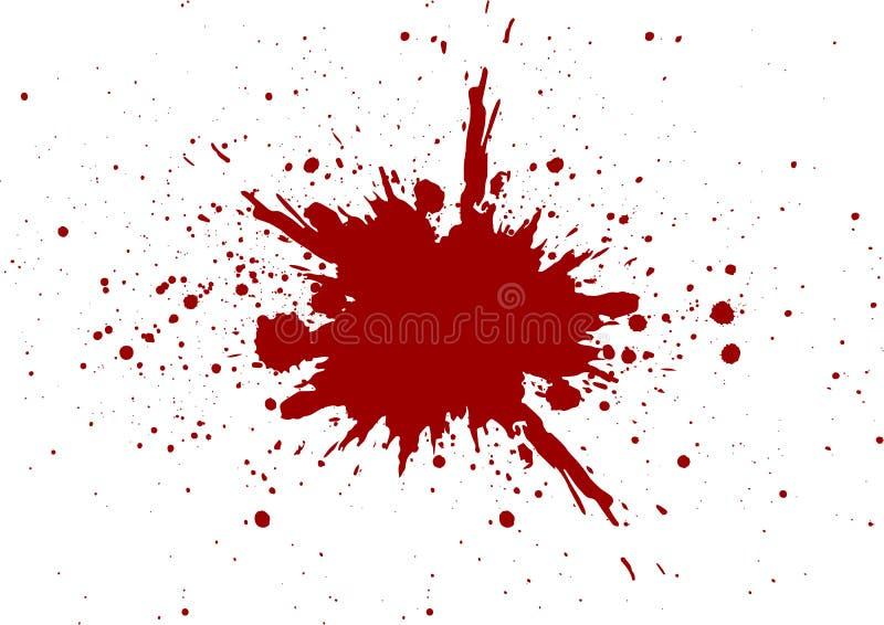 Дизайн крови вектора изолированный splatter desig иллюстрации иллюстрация штока