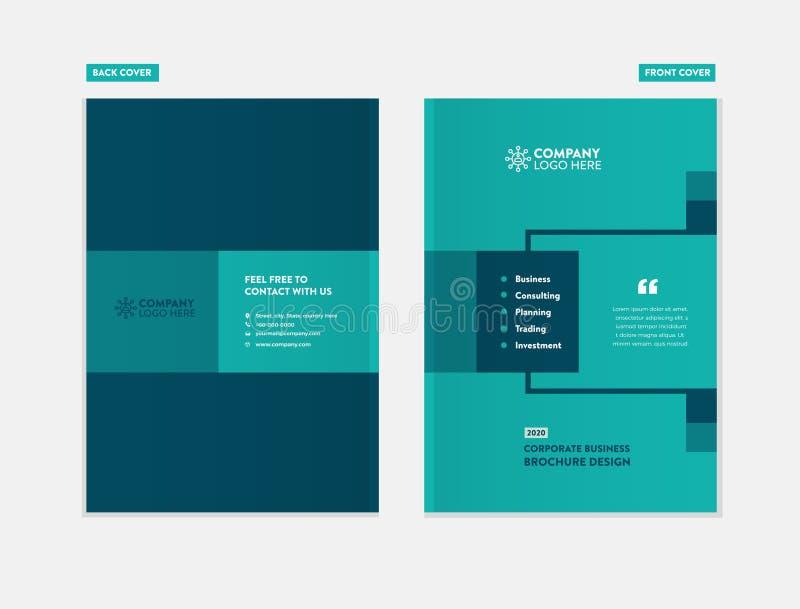 Дизайн крышки брошюры дела иллюстрация вектора