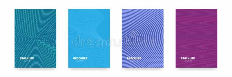 Дизайн крышки брошюры дела абстрактный геометрический шаблон Комплект минимального дизайна крышек иллюстрация вектора