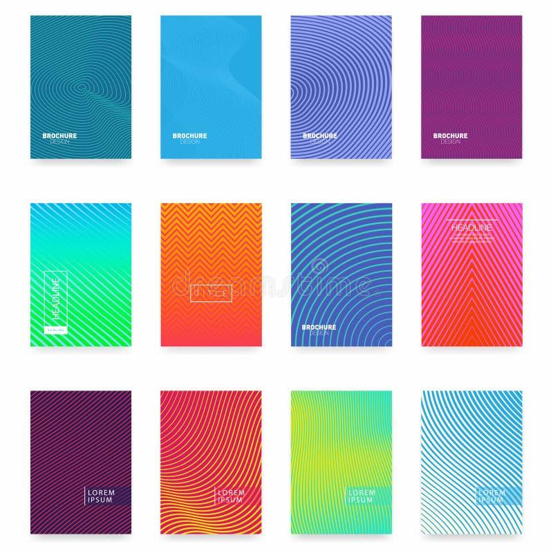 Дизайн крышки брошюры дела абстрактный геометрический шаблон Комплект минимального дизайна крышек бесплатная иллюстрация