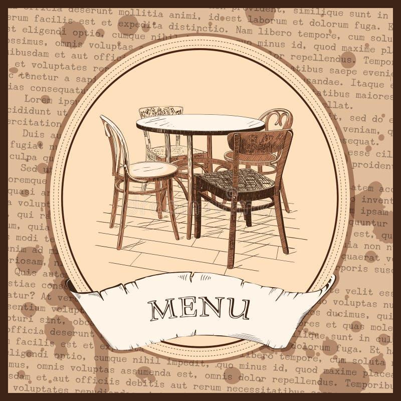 Дизайн крышки меню ресторана бесплатная иллюстрация