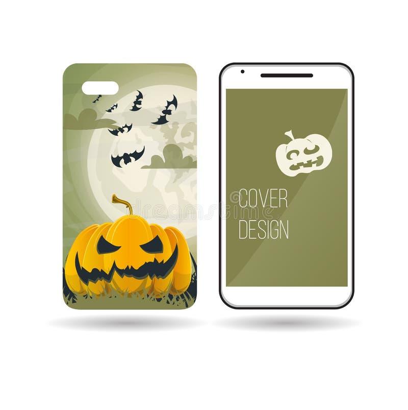 Дизайн крышки ` s телефона хеллоуина стоковое фото rf