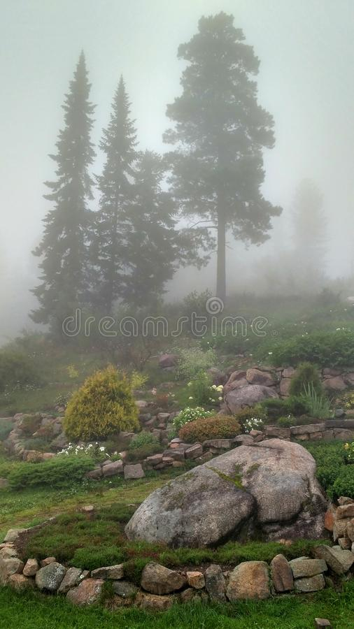 Дизайн ландшафта в горе park_2 стоковая фотография rf
