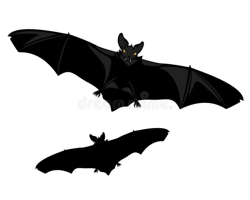 Дизайн летая вектора хеллоуина летучей мыши вампира иллюстрация штока