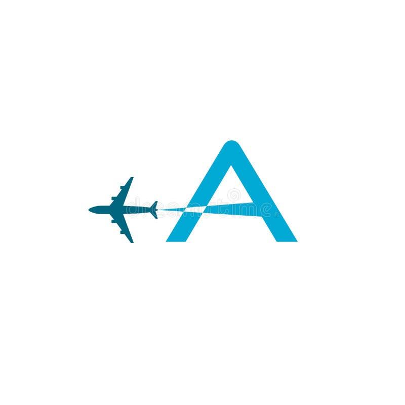 Дизайн логотипа авиакомпании с прописной буквой a иллюстрация вектора