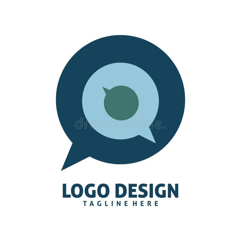 Дизайн логотипа болтовни круга бесплатная иллюстрация
