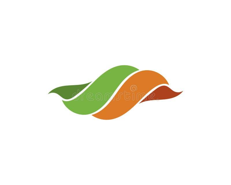 Дизайн логотипа вектора лист дерева, дружественная к эко концепция иллюстрация вектора