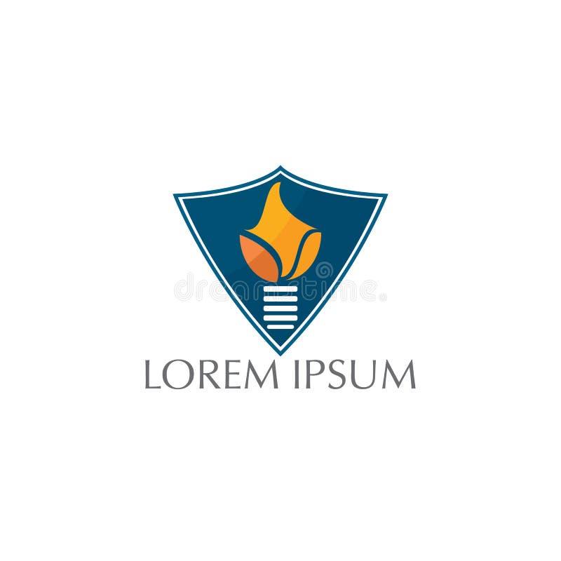 Дизайн логотипа вектора пылать домашний бесплатная иллюстрация