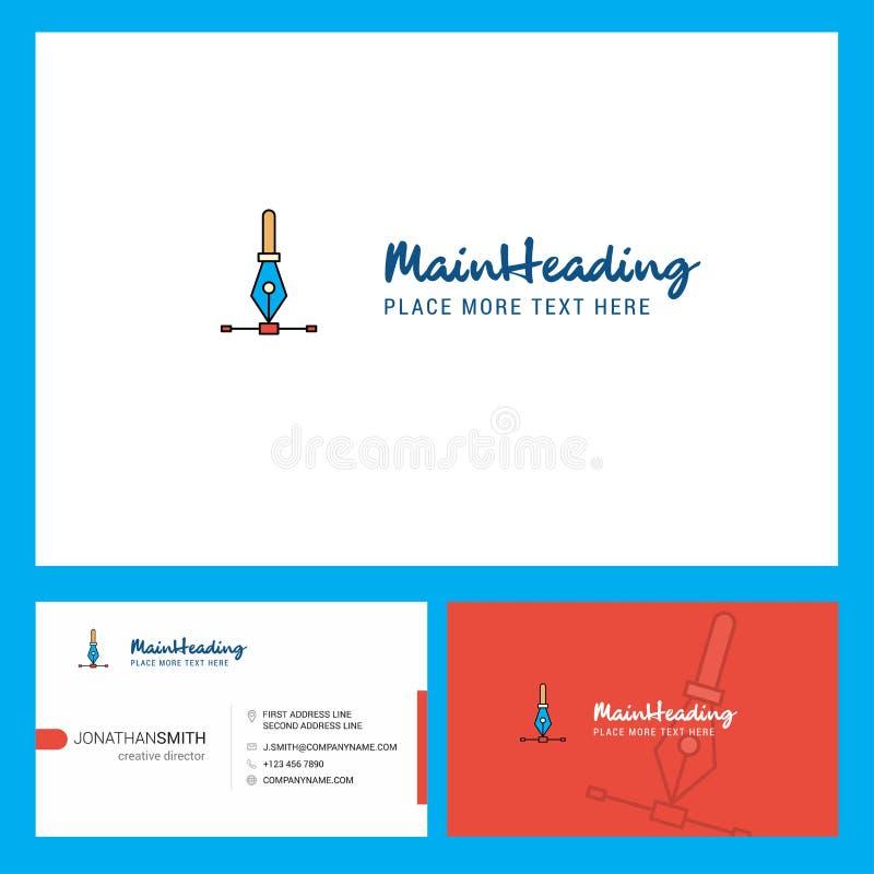 Дизайн логотипа вектора со слоганом & фронтом и задним шаблоном карты Busienss Дизайн вектора творческий иллюстрация вектора