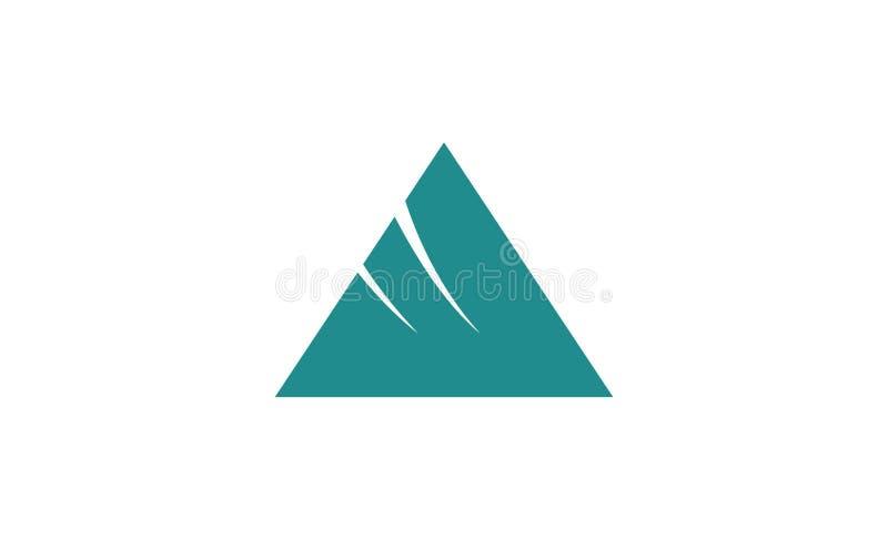 Дизайн логотипа горы иллюстрация штока
