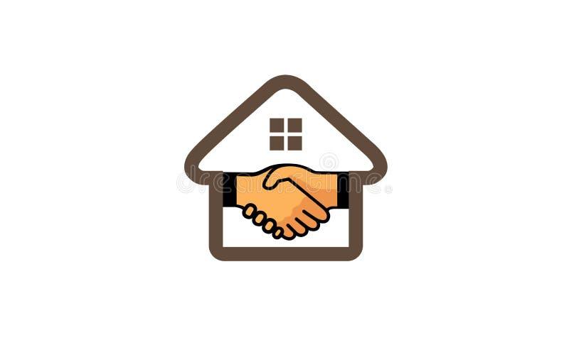 Дизайн логотипа дела дома иллюстрация вектора