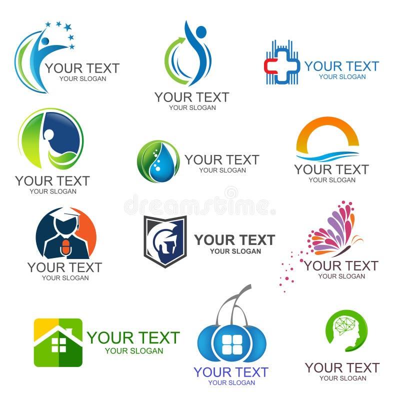 Дизайн логотипа дела корпоративного логотипа дела установленный Корпоративный дизайн логотипа Творческое собрание значков вектора иллюстрация штока