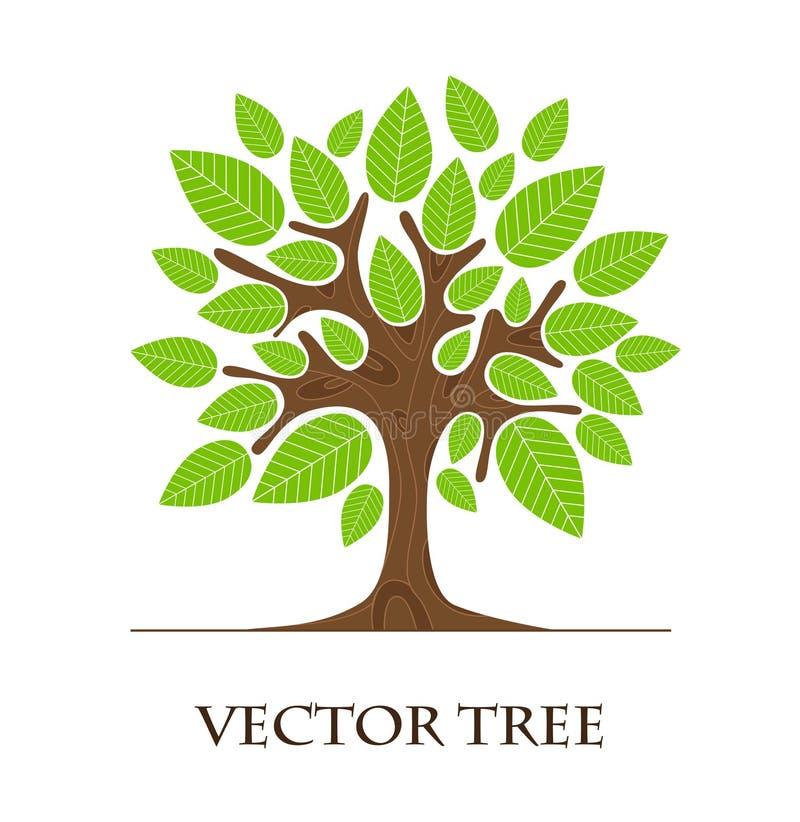 Дизайн логотипа дерева иллюстрация вектора