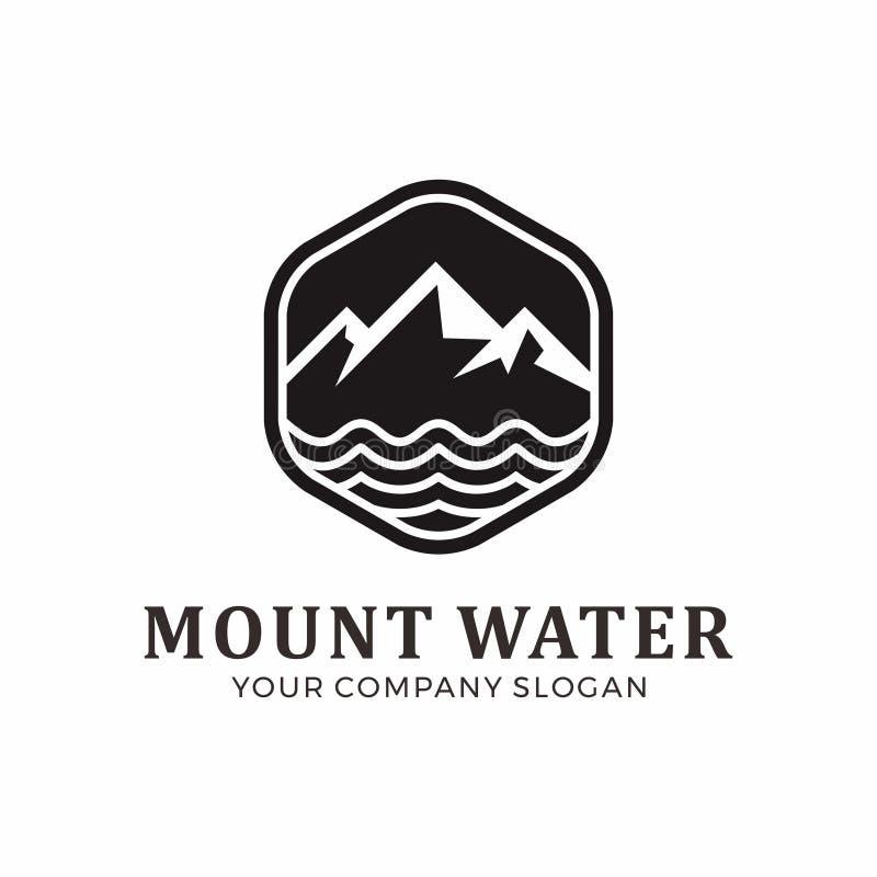 Дизайн логотипа держателя и воды иллюстрация вектора