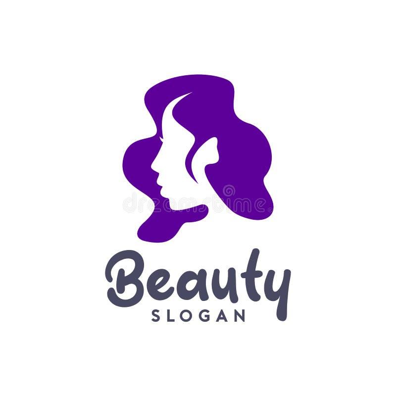Дизайн логотипа женщин красоты салона иллюстрация штока