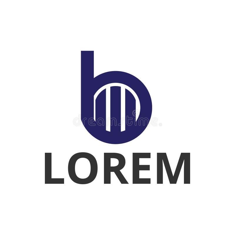 дизайн логотипа значка конструкции b письма круга иллюстрации вектора иллюстрация штока