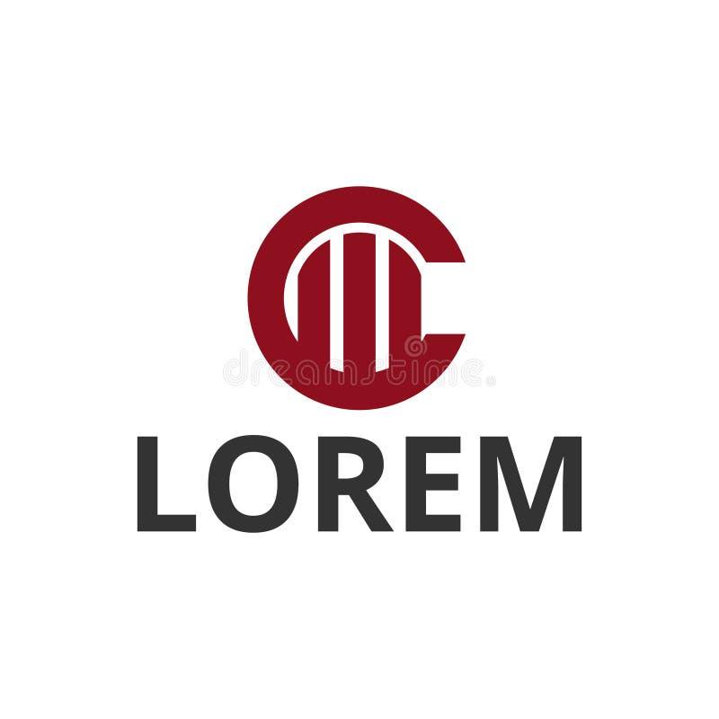 дизайн логотипа значка конструкции c письма круга иллюстрации вектора иллюстрация штока