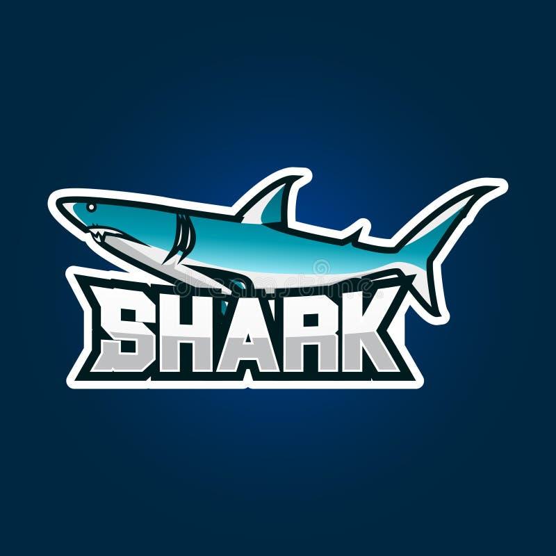 Дизайн логотипа игры esport акулы Иллюстрация дизайна логотипа эмблемы игры акулы бесплатная иллюстрация