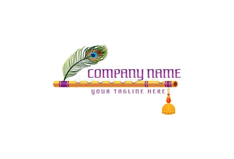 Дизайн логотипа каннелюры иллюстрация штока