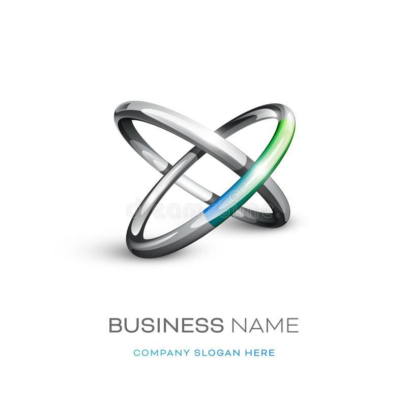 Дизайн логотипа колец Astract бесплатная иллюстрация