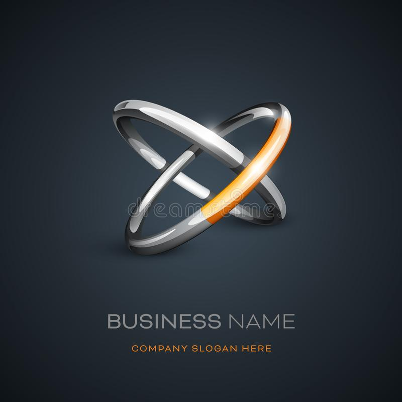 Дизайн логотипа колец Astract иллюстрация штока