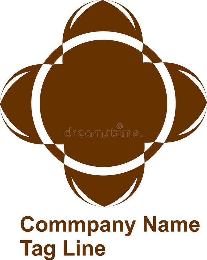 Дизайн логотипа конспекта цветка и вектор, белый круг в середине бесплатная иллюстрация
