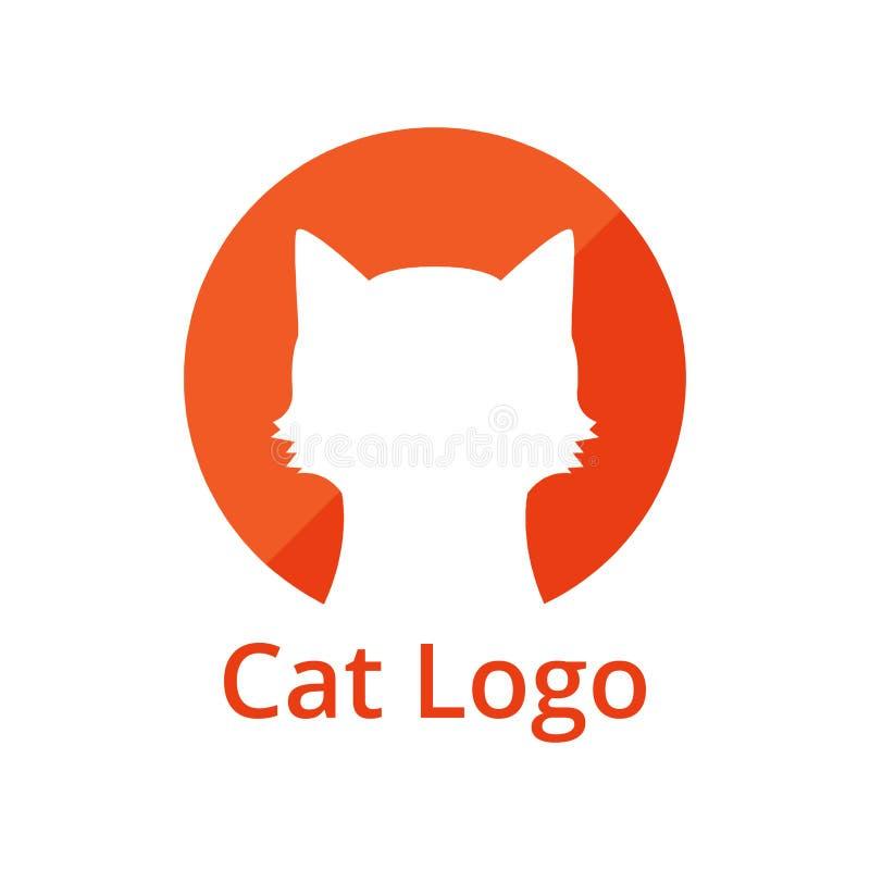 Дизайн логотипа кота животный стоковая фотография rf