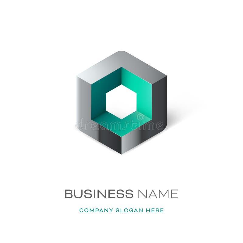 Дизайн логотипа куба Astract бесплатная иллюстрация