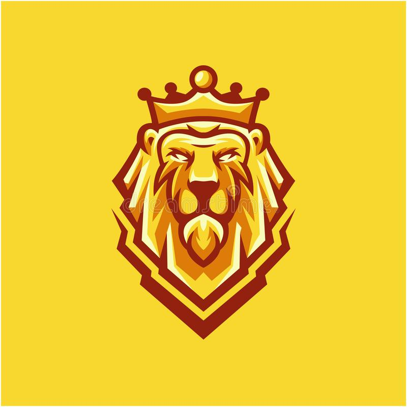 Дизайн логотипа льва короля для вашей компании бесплатная иллюстрация
