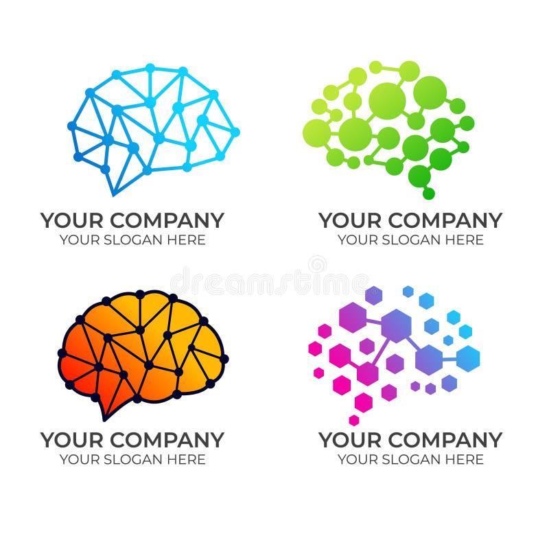 Дизайн логотипа мозга бесплатная иллюстрация