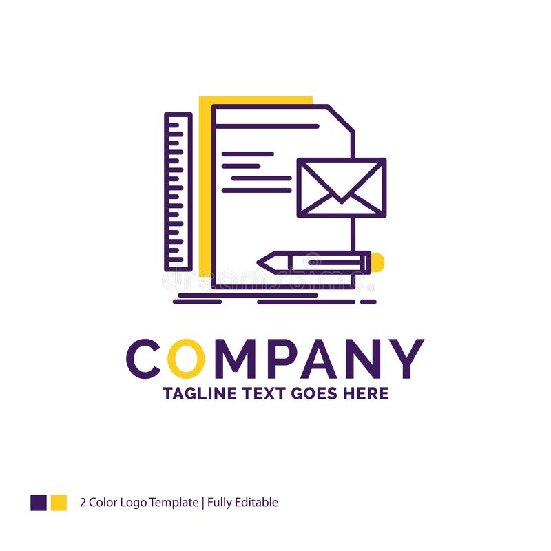 Дизайн логотипа названия фирмы для бренда, компании, идентичности, письма, p иллюстрация вектора