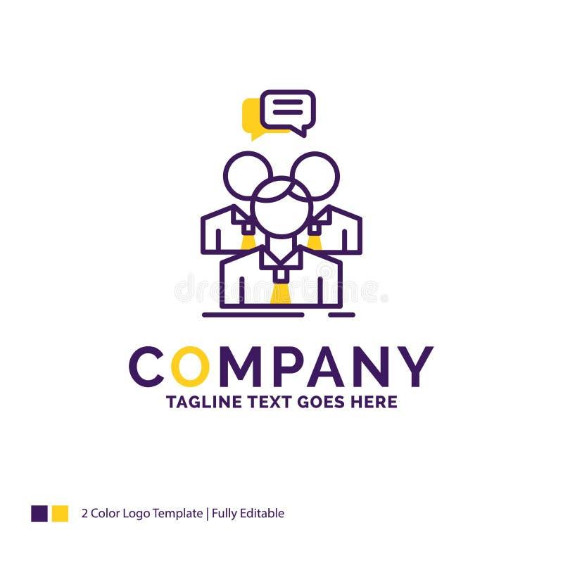 Дизайн логотипа названия фирмы для группы, дела, встречи, людей, t иллюстрация вектора