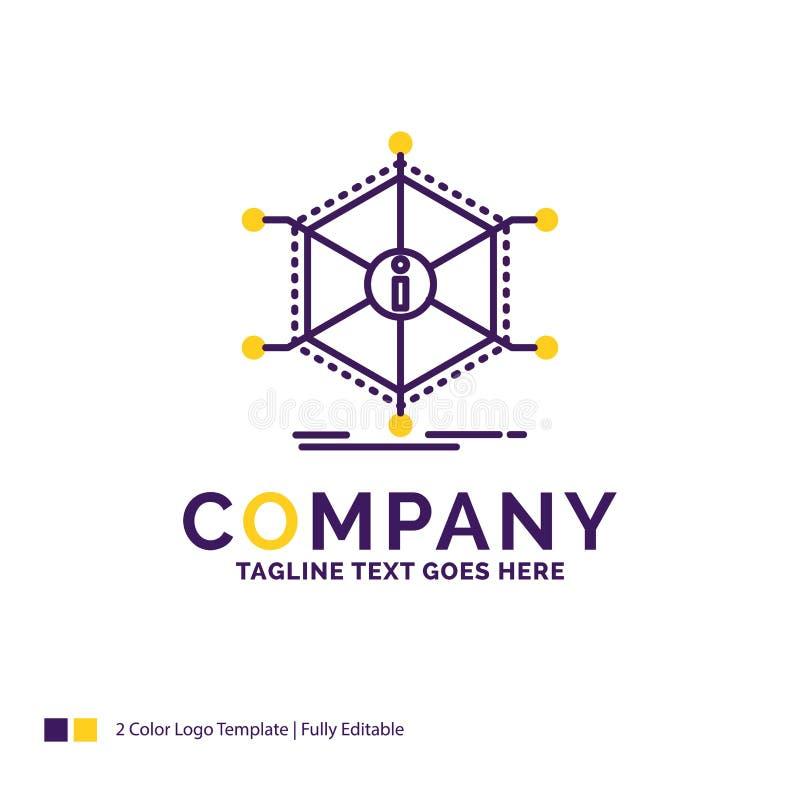Дизайн логотипа названия фирмы для данных, помощи, информации, информации, reso бесплатная иллюстрация