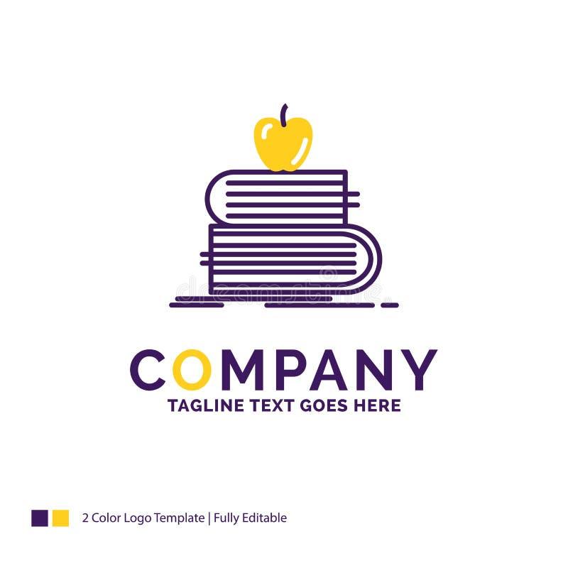 Дизайн логотипа названия фирмы для задней части в школу, школу, студента, bo иллюстрация штока