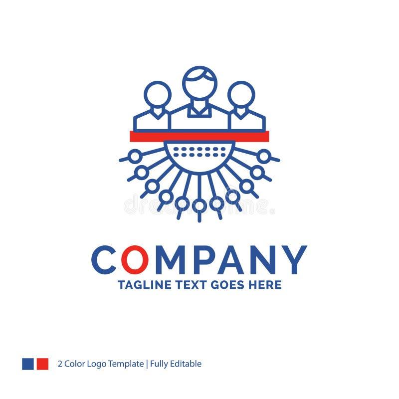 Дизайн логотипа названия фирмы для распределения, группы, человека, managemen иллюстрация вектора