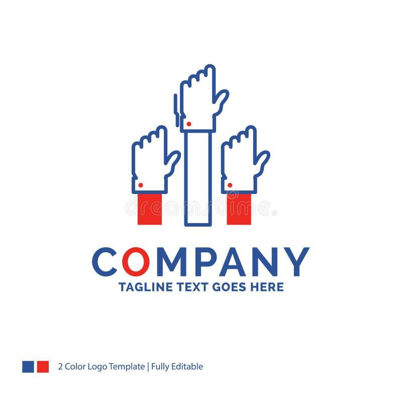 Дизайн логотипа названия фирмы для устремленности, дела, желания, emplo бесплатная иллюстрация