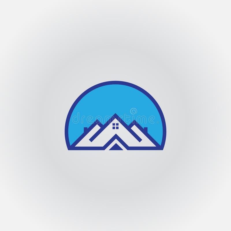 Дизайн логотипа недвижимости для вашей компании Здание, квартира, логотип недвижимости иллюстрация штока