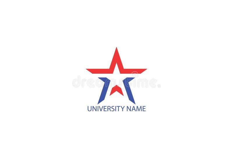 Дизайн логотипа образования университета иллюстрация вектора